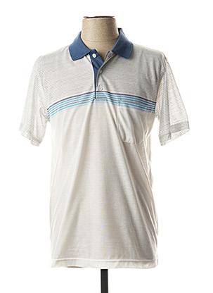 Polo manches courtes blanc CAP 10 TEN pour homme