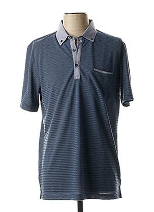 Polo manches courtes bleu CAP 10 TEN pour homme