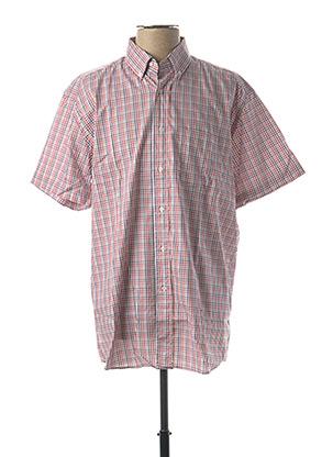 Chemise manches courtes rouge PIERRE CARDIN pour homme
