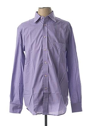 Chemise manches longues violet CAMBRIDGE pour homme
