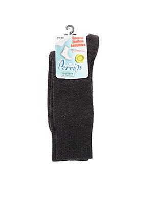 Chaussettes marron PERRIN pour homme