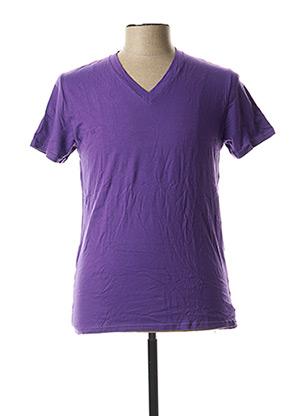T-shirt manches courtes violet EMINENCE pour homme
