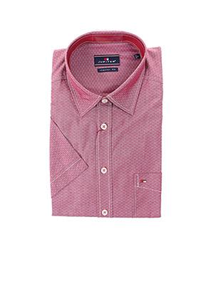 Chemise manches courtes rouge JUPITER pour homme