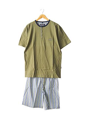 Pyjashort vert SEIDEN STICKER pour homme