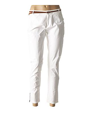 Pantalon 7/8 blanc SO SOON pour femme