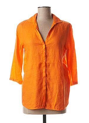 Chemisier manches longues orange ROSSO 35 pour femme