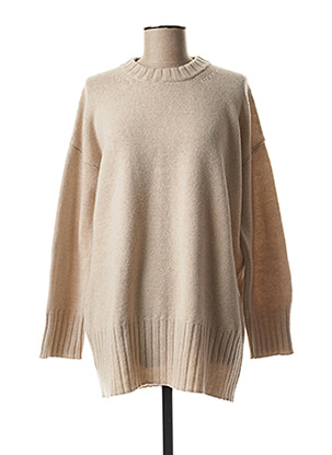 Pull col rond beige BASE MILANO pour femme