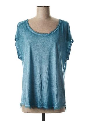 T-shirt manches courtes bleu BELLA JONES pour femme