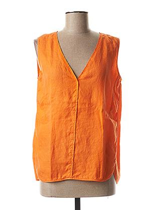 Top orange ROSSO 35 pour femme