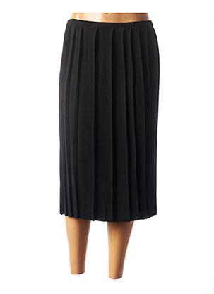 Jupe mi-longue noir MONTAGUT pour femme