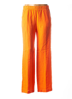 Pantalon casual orange ROSSO 35 pour femme