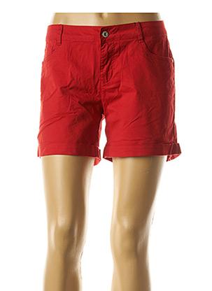Short rouge SARAH JOHN pour femme