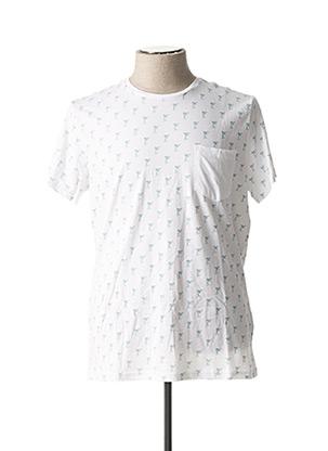 T-shirt manches courtes blanc BLEND pour homme