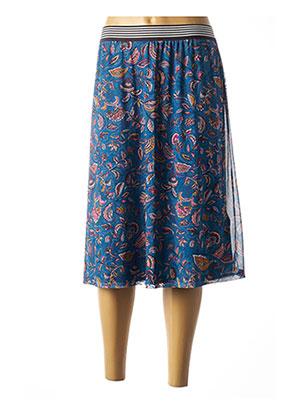 Jupe mi-longue bleu CECIL pour femme