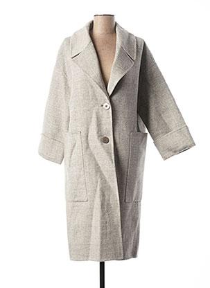 Manteau long gris YAYA pour femme