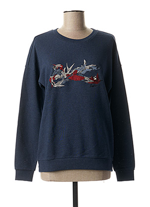 Sweat-shirt bleu DENHAM pour femme
