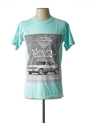 T-shirt manches courtes bleu DIAMOND pour homme