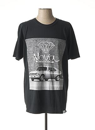 T-shirt manches courtes noir DIAMOND pour homme