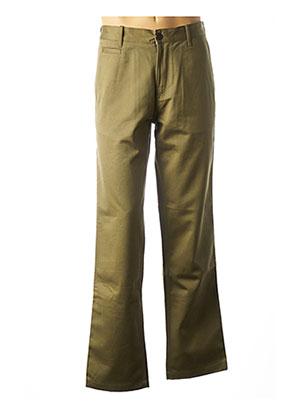 Pantalon chic vert EAT DUST pour homme