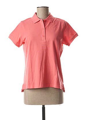 Polo manches courtes rose RIVER WOODS pour femme