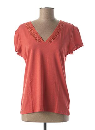 T-shirt manches courtes orange OXBOW pour femme