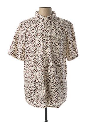 Chemise manches courtes marron QUIKSILVER pour homme