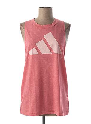 T-shirt manches longues rose ADIDAS pour femme