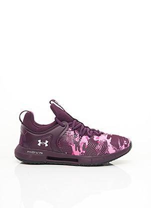 Baskets violet UNDER ARMOUR pour femme