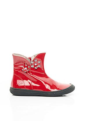 Bottines/Boots rouge KNEPP pour fille