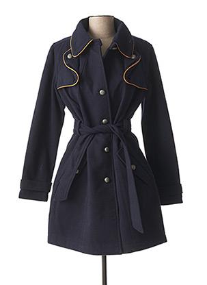 Manteau long bleu LOLA ESPELETA pour femme