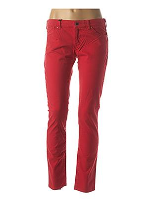 Jeans coupe slim rouge ARMANI pour femme