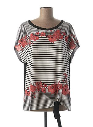 T-shirt manches courtes noir DIANE LAURY pour femme