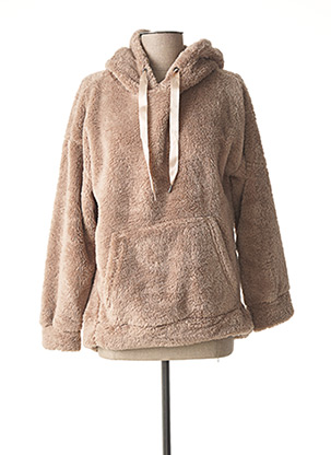 Pull col rond marron B.YOUNG pour femme