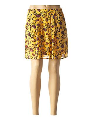 Jupe courte jaune VERO MODA pour femme