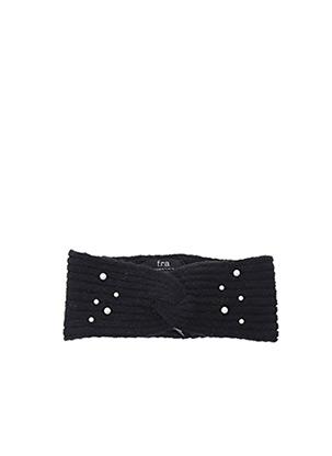 Chapeau noir F.R.A. pour femme