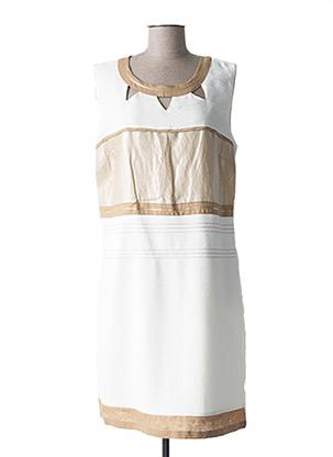 Robe mi-longue beige DIANE LAURY pour femme