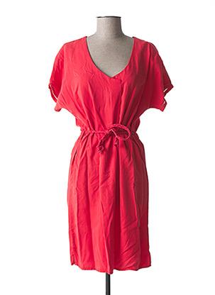Robe mi-longue rouge C'EST BEAU LA VIE pour femme
