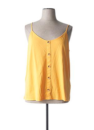 Top jaune C'EST BEAU LA VIE pour femme