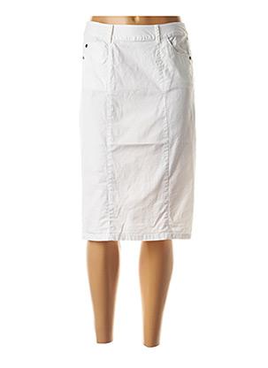 Jupe mi-longue blanc AGATHE & LOUISE pour femme