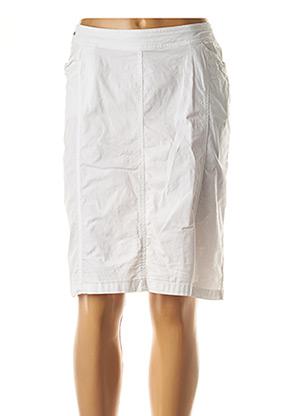 Jupe mi-longue blanc FELINO pour femme