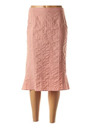 Jupe mi-longue rose GUY DUBOUIS pour femme