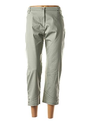 Pantalon 7/8 vert CHRISTINE LAURE pour femme