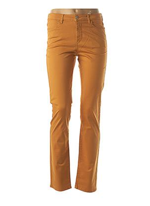 Jeans coupe droite marron KANOPE pour femme