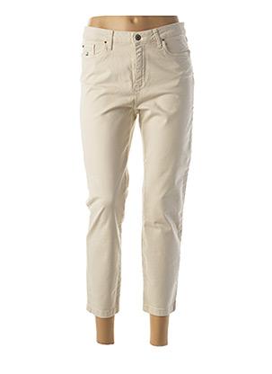 Jeans coupe slim beige LCDN pour femme