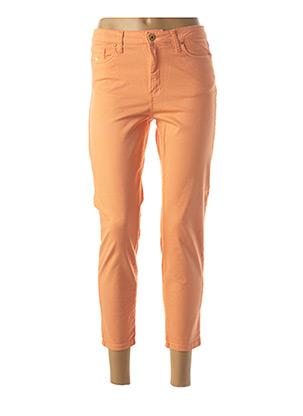 Jeans coupe slim orange LCDN pour femme