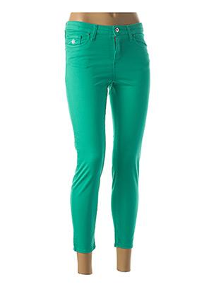 Jeans coupe slim vert LCDN pour femme