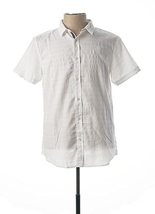 Chemise manches courtes blanc RITCHIE pour homme
