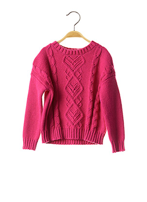 Pull col rond rose MAYORAL pour fille