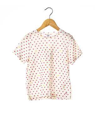 T-shirt manches courtes blanc PETIT BATEAU pour fille