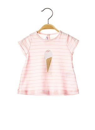 T-shirt manches courtes rose PETIT BATEAU pour fille